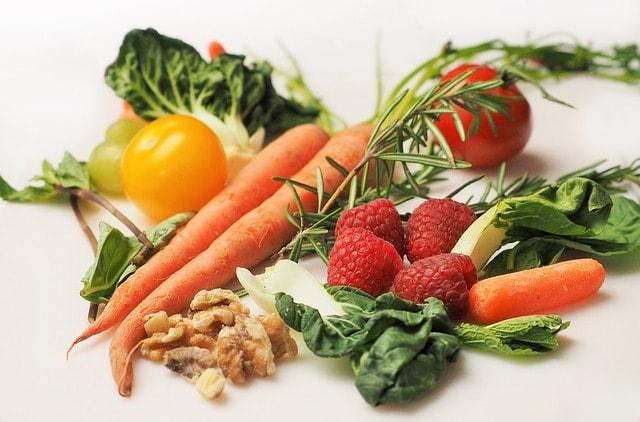 carrot, kale, walnuts